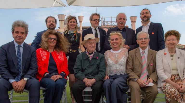 Presentazione di do ut do 2018-19, Collezione Peggy Guggenheim: i tutor Mendini e Rylands con membri dei Comitati Organizzatore, Artistico e Scientifico